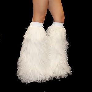 white rave legwarmers