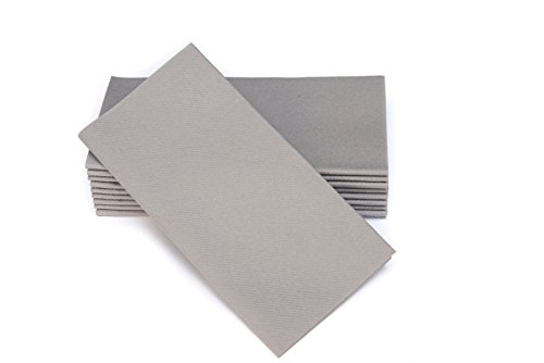 SimuLinen Colored Napkins - RICH GRAY - Decorative Cloth Like & Disposable Dinner Napkins - Soft, Absorbent & Durable - 16