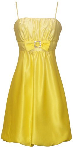 Ombre Satin Bubble Mini Prom Bridesmaid Dress Rhinestone Buckle