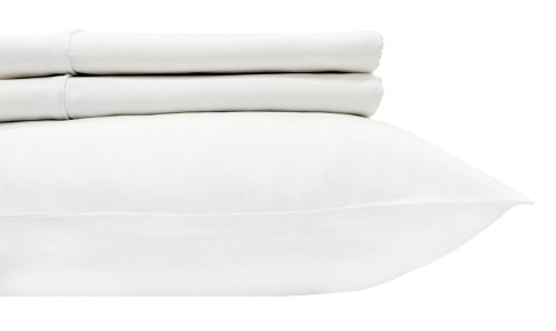 """Royal'S Solid White 600-Thread-Count 2Pc / Pair Standard / Queen Size 20"""" X 30"""" Pillowcases 100% Egyptian Cotton, Sateen, Pillow Cases front-454422"""