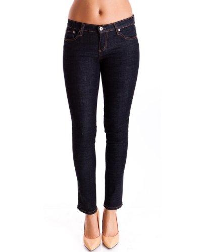 Dark Blue Ladies Dark Wash Ankle Length 5 Pocket Low Rise Skinny Jeans