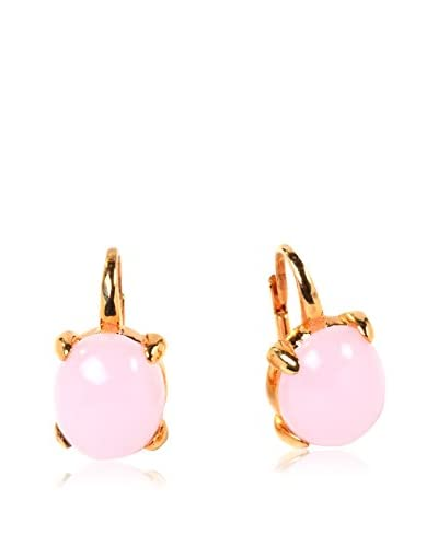 RINA LIMOR Pastel Pink Crystal Bubble Earrings