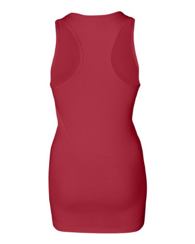 Bella Ladies 2x1 Rib Racerback Tank Top. 4070 - X-Large - Red