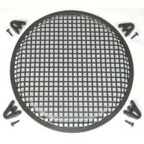 R/T 10-Inch Steel Waffle Speaker Grill with Mounting Brackets and Screws