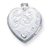 Sterling Silver Heart Locket - JewelryWeb