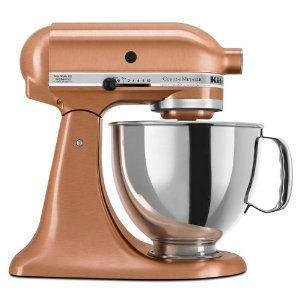 KitchenAid KSM152PSCP Custom Metallic Series 5-Quart Mixer, Satin Copper