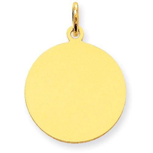 14k Yellow Gold Plain Medium .035 Gauge Facing Right Engravable Girl Head Charm