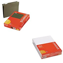 KITUNV14115UNV35618 - Value Kit - Universal Scratch Pads (UNV35618) and Universal Hanging File Folders (UNV14115)