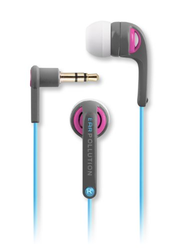 Earpollution Evolution Earbuds - Gray/Pink/Blue