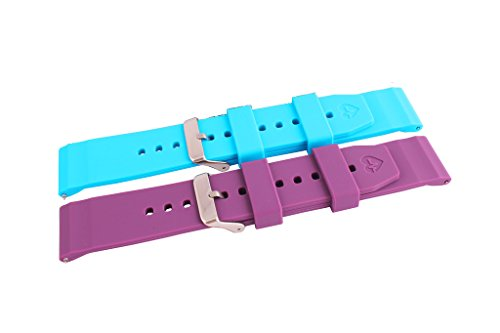 Yavive Replacement Silicon Strap for Basis Peak Ultimate Fitness and Sleep Tracker (blue + purple) (Basis Peak Strap compare prices)