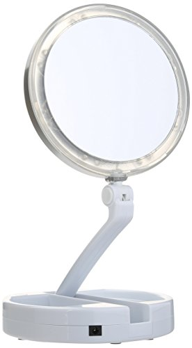 10x Magnifying Compact Mirror With Tweezer Health Beauty