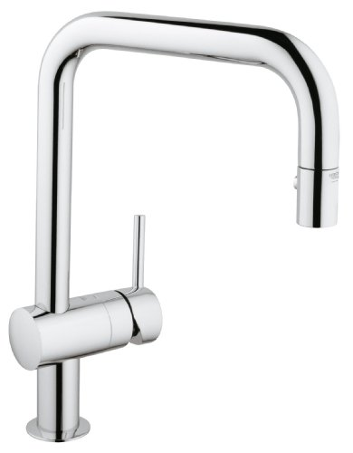 Grohe 32322 Minta Single Handle U Spout Sink Tap with Pull-out Spray Tap