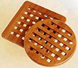 Lipper International Trivets, Set of 2, Bamboo