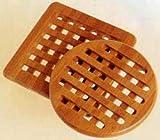 Lipper International Trivets, Set of 2, Bamboo