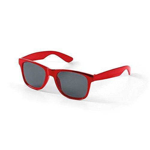 Bambini Occhiali da sole Wayfarer Retro Classic Ragazze Ragazzi aviatore UV400 (rosso)