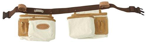 McGuire Nicholas 386 C 10 Pocket Finishers Apron in Natural Cotton Canvas With Belt
