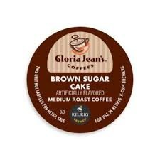 Gloria Jean's Brown Sugar Cake Coffee Keurig K-Cups, 36 Count
