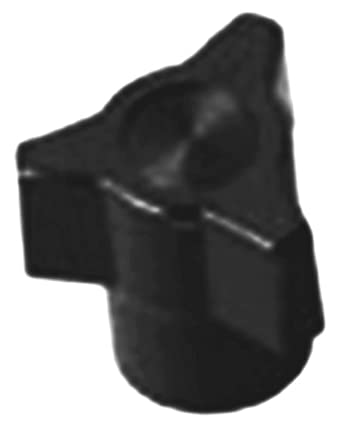 "Davies Thermoset Three Arm Knob, Flute Rim, Threaded Hole, #10-32 Thread Size X 3/8"" Thread Length, 7/8"" Diameter (Pack of 5)"