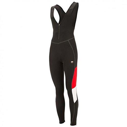 Briko Gt Bibtight Pantalone Termico Invernale Lungo, Nero/Rosso/Bianco, XL