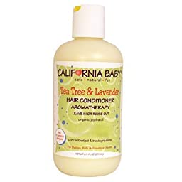 California Baby Hair Conditioner Tea Tree and Lavender -- 8.5 fl oz New Born, Baby, Child, Kid, Infant