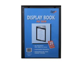 Tiger presentation display book a5 20 pockets for Porte vue a5