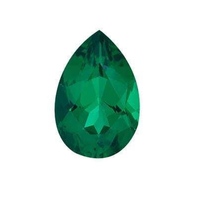 9x6 mm-1.10 Cts Russian Lab Created Loose pear-cut Emerald-AAA quality