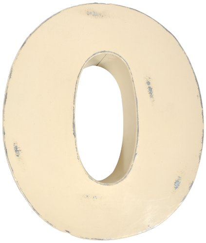 Found Object Sansarif 12-Inch Solid Letter Wall Hanging, Capital O, White - 1