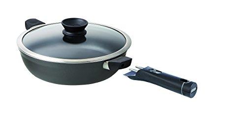 Pyrex Attraction Sauteuse anti-adhésive manche amovible et poignées de service + couvercle - Tous feux dont induction - 26 cm