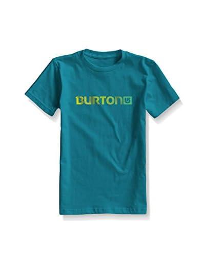 Burton Camiseta Manga Corta Logo Hrz Enamel Azul Petróleo
