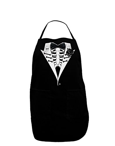 Skeleton Tuxedo Halloween Dark Adult Apron