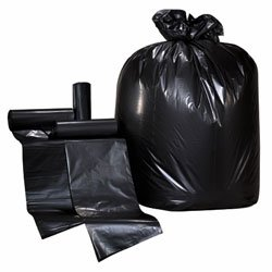 Colonial Bag- Low Density Trash Can Liners- 30 x 36, 20-30 Gallon, .45 mil, Black (250 Bags/Case)