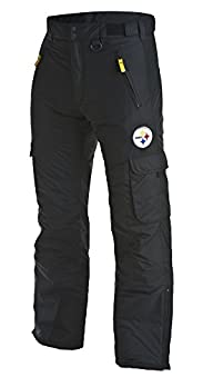 Arctix Men's Classic Cargo Snow Pants, Black, Steelers XL