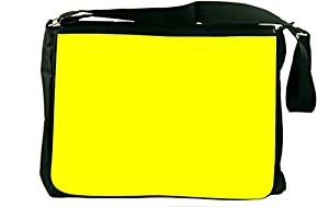 Rikki KnightTM Bright Yellow Color Design Messenger Bag - - Shoulder Bag - School Bag for School or Work - With Matching coin Purse