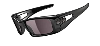 Oakley Mens Crankcase OO9165-01 Square Sunglasses,Polished Black Frame/Warm Grey Lens,one size
