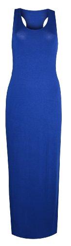 Womens Ladies Muscle Racerback Maxi Dress (8/10 (Uk 12/14), Royal Blue)