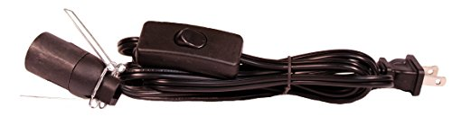Salt Lamp Cord Set with Rocker Switch and Plug, 6 Foot Black, SPT-2 (Salt Lamp Cord With Dimmer Switch compare prices)