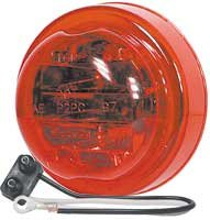 Truck-Lite 81203 Led 10-Series Clearance/Marker Led Lamp, 14 V, Red