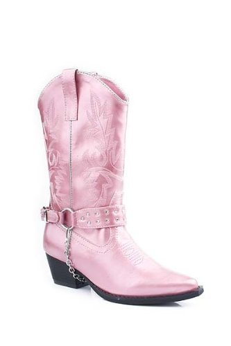 Roper 09-018-1556-0621 Pi Kids Faux Leather Boot Pink size 3