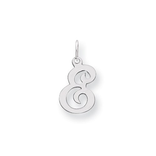 Sterling Silver Stamped Initial E Charm
