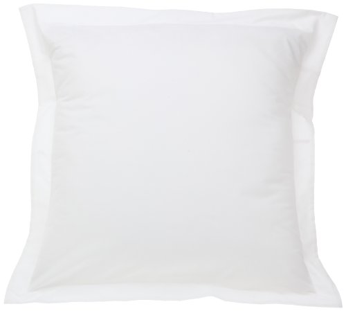 Fresh Ideas Tailored Poplin Pillow Sham (Cover) Euro, White