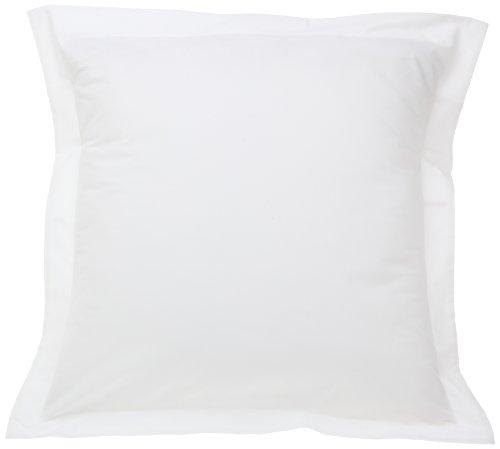 Best Price! Fresh Ideas Tailored Poplin Pillow Sham Euro, White
