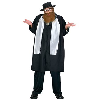 Big & Tall Rabbi Mens Religious Halloween Costume