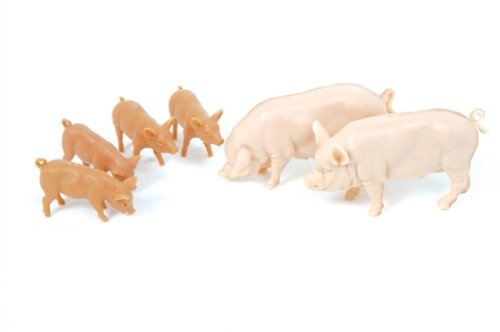 40966 1:32 Scale Large White Pigs 152167 40966 By Britains