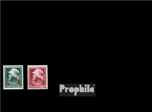 German Empire 569x-570x (complete.issue.), vertical knurl 1935 Memorial Day (Stamps for collectors)