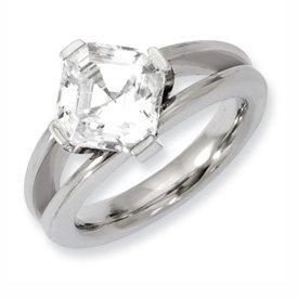 Genuine IceCarats Designer Jewelry Gift Titanium Cz Ring Size 7.00