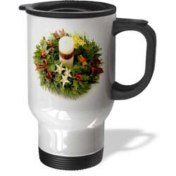 Advent Wreath - 14oz Stainless Steel Travel Mug