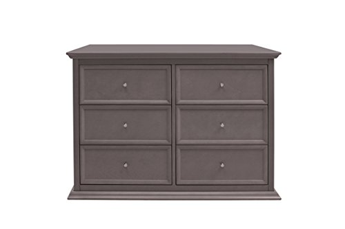 Million Dollar Baby Foothill-Louis 6-Drawer Changer Dresser With Tray, Weathered Grey front-936928