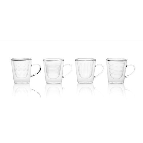 Mikasa 5117417 Cheers Insulated Espresso Glass Set Of 4 5117417