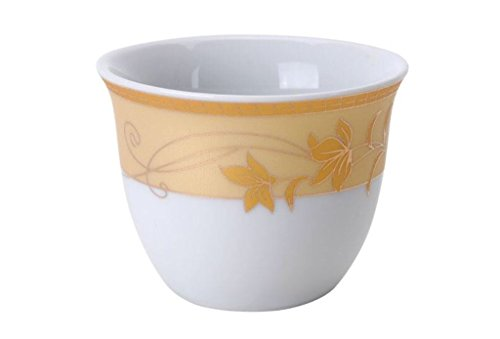 Turkish Arabic Coffee Cups Gawa Set of 12 Gold Banded Cups (Golden Leaves) (Alpine Cuisine Espresso compare prices)