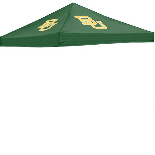 Camping 10' X 10' Canopy Pop-Up Tent Straight-Leg W/ School Logos Green front-902186